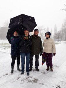 i camminatori che hanno sfidato la neve