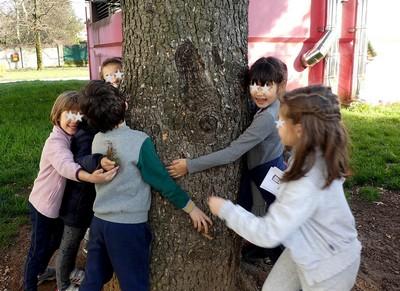● 13/3/18 – I bimbi della 1^A vanno alla scoperta degli alberi della loro scuola